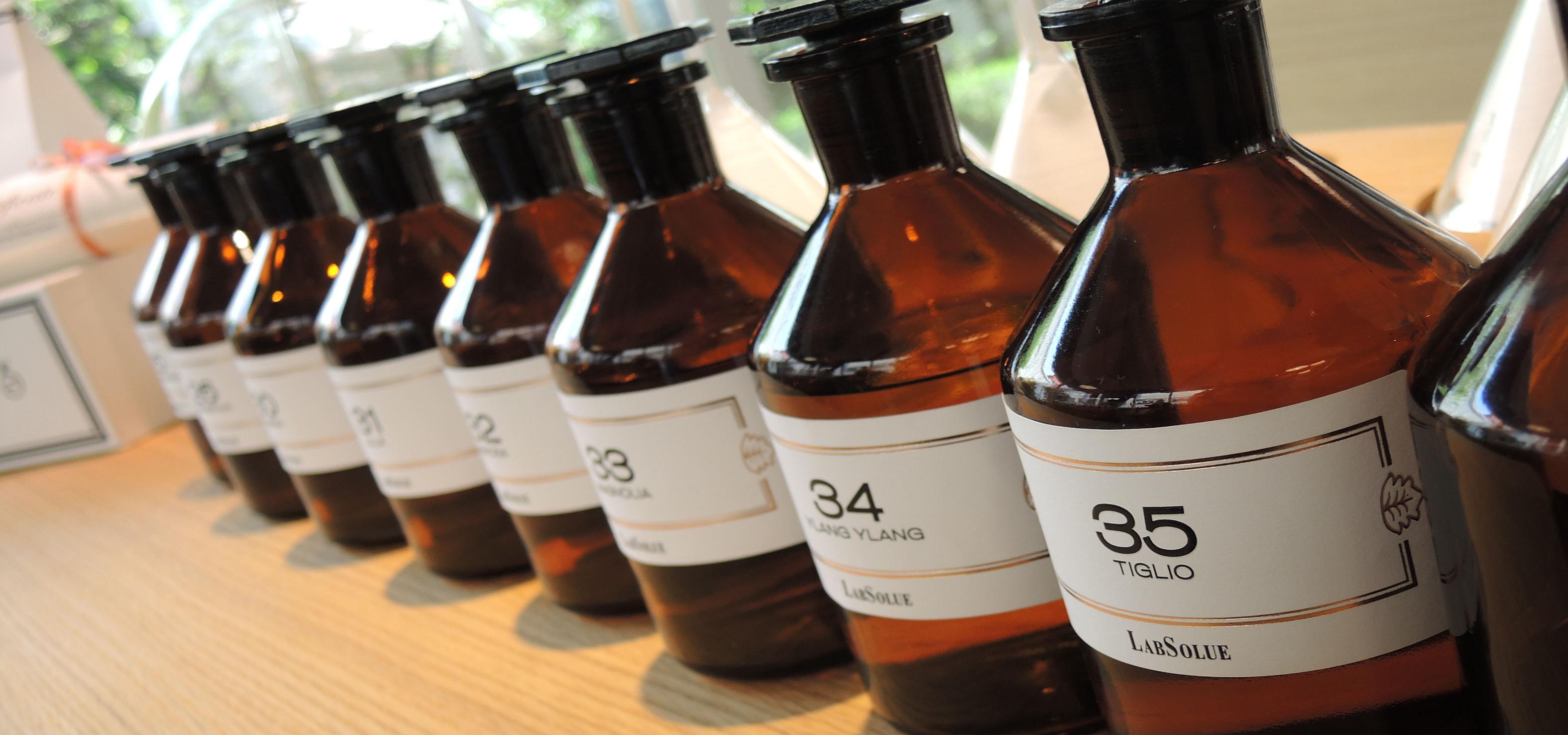 LabSolue amber gekleurde flesjes