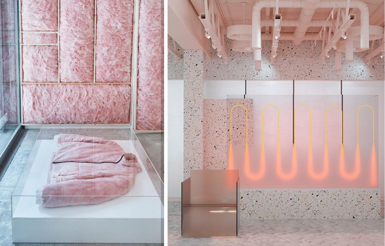 Kleurtrend Roze Interieur : Retailtheater verras je klant met kleur en vorm